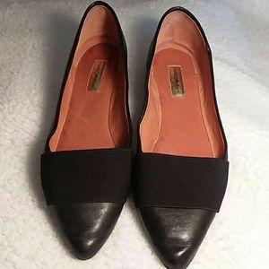 Halogen Black Leather Flats  - 8M
